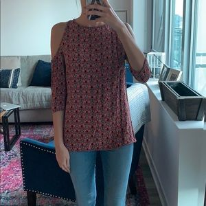 Red patterned Urban Outfitters top